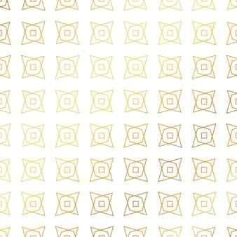 幾何学的形状の黄金パターン背景