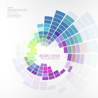 カラフルな円形のモザイクデザインのベクトルの背景