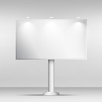 空白の看板モックアップのデザインテンプレート