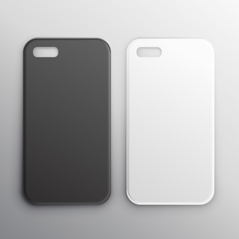 設定空の黒と白のスマートフォンケース