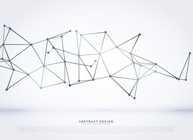 Технология каркасного многоугольной сетки абстрактный фон