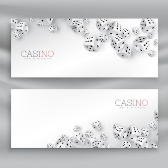 Плавающие казино кости набор баннеров