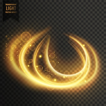 抽象透明金色の光の効果の背景
