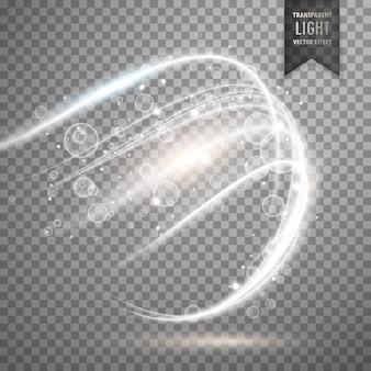 透明白色光の効果の背景