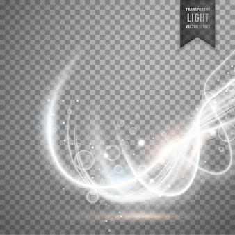 抽象透明白色光効果のベクトルの背景