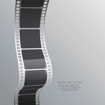 フィルムリールストリップベクトルの背景