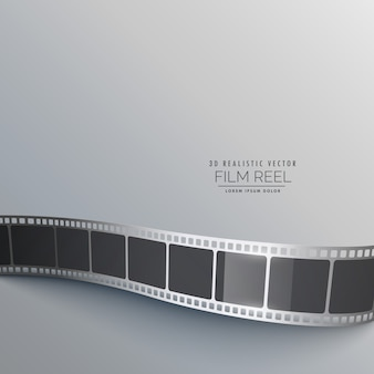 フィルムストリップと灰色の背景