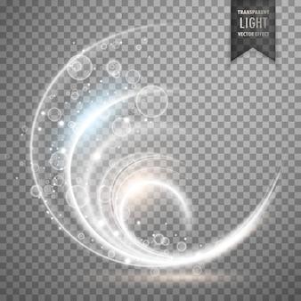 白い透明な光の効果の背景
