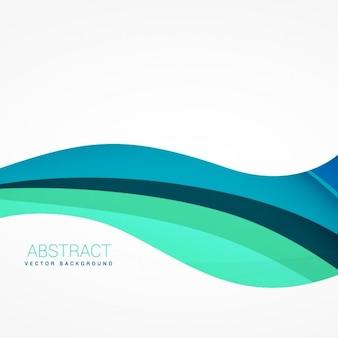 青い色調で波状の背景