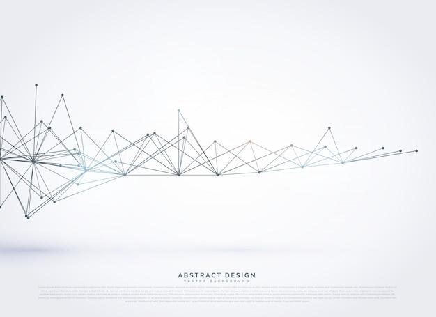 抽象的なデジタルワイヤフレームメッシュベクトルの背景
