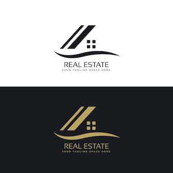 ハウスロゴデザインのコンセプトベクトル