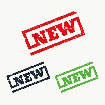 新しい記号とシンボルのゴム印