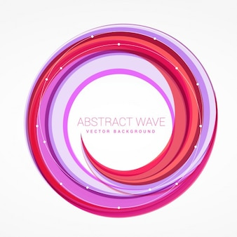 抽象的な波の渦カラフルなベクトルの背景