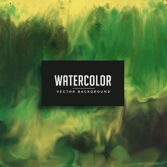 すばらしい緑色の水彩テクスチャの背景