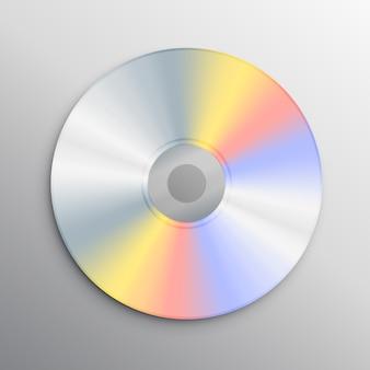 Реалистичный шаблон для макета компакт-диска