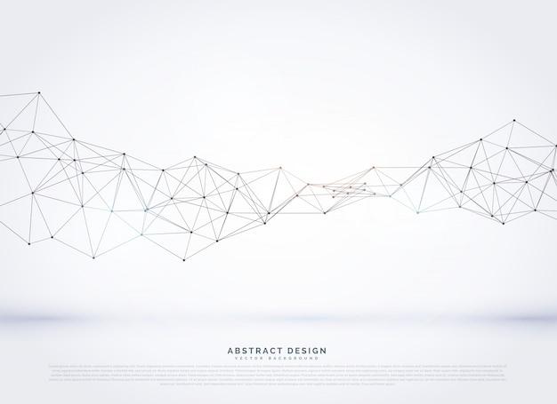 ベクトル多角形抽象的なネットワークワイヤフレームの背景