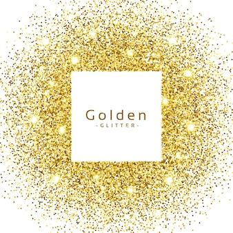 抽象的な金色の輝きの輝きのフレーム