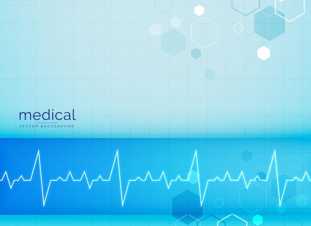 Медицинский фон с сердечным ритмом электрокардиограммы