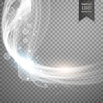 透明な白色光効果の背景