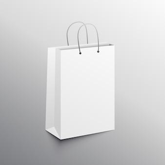 空のショッピングバッグモックアップデザインテンプレート