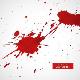 赤いインク飛沫のテクスチャ汚れの背景