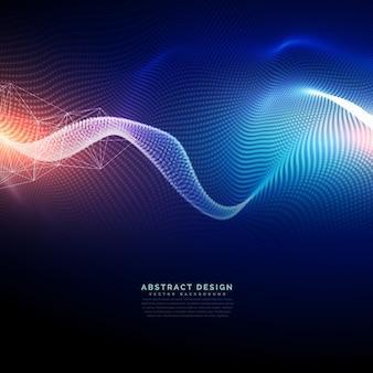 波の未来的なスタイルのテクノロジーデジタル背景