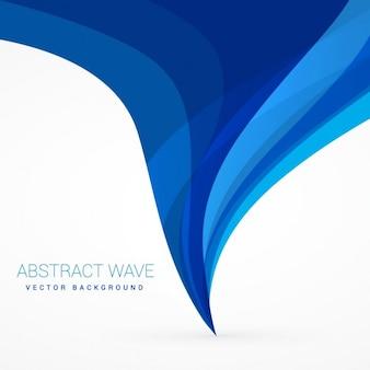 トップデザインの下から流れる青い波