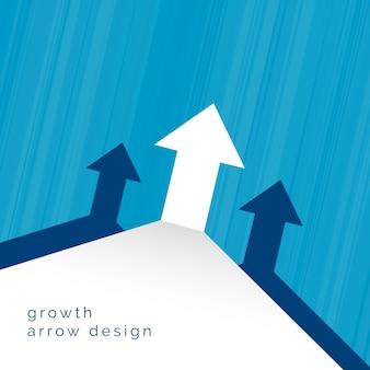 矢印上向きのビジネスコンセプトデザイン