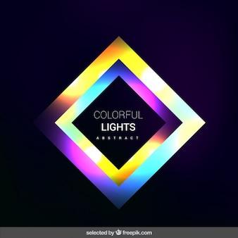 蛍光正方形の背景