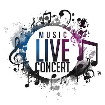 抽象的なグランジミュージックライブコンサートのポスターデザイン