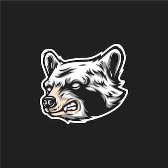 アライグマの頭のロゴ