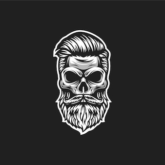 Череп парикмахерская логотип