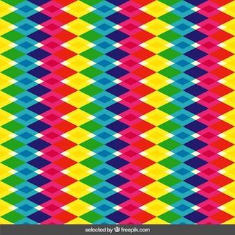 カラフルな半透明の菱形パターン