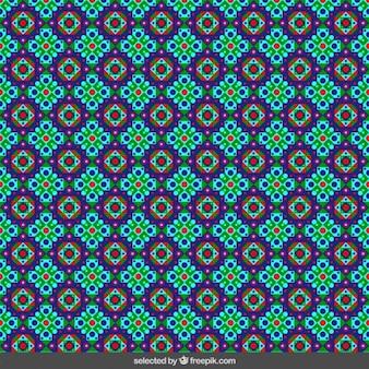 色付き花柄イスラムモザイク