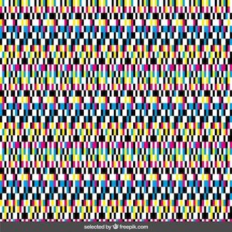 変形カラフルなピクセルの背景