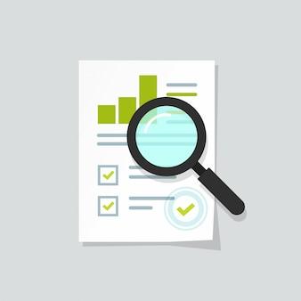 売上成長レポートまたは分析調査データの調査