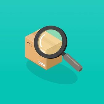 拡大鏡ガラスによる小包または注文の追跡