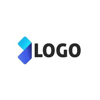 矢印の抽象的なロゴタイプデザイン