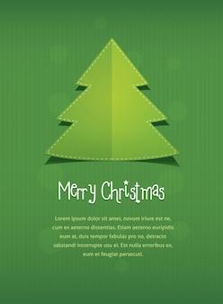Счастливого рождества с новогодней елкой и текстом