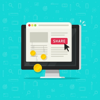 Технология оплаты за клик или стоимость за клик на веб-сайте компьютера