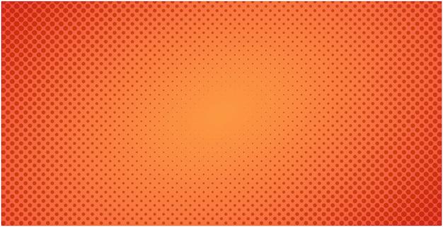 点線のハーフトーン赤オレンジ色の背景またはポップアートグラデーション背景イラスト