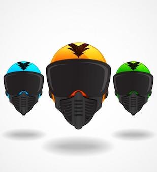 Коллекция красочные шлемы