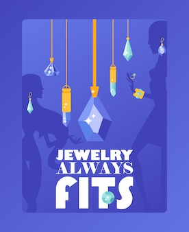 Ювелирный магазин типографский плакат