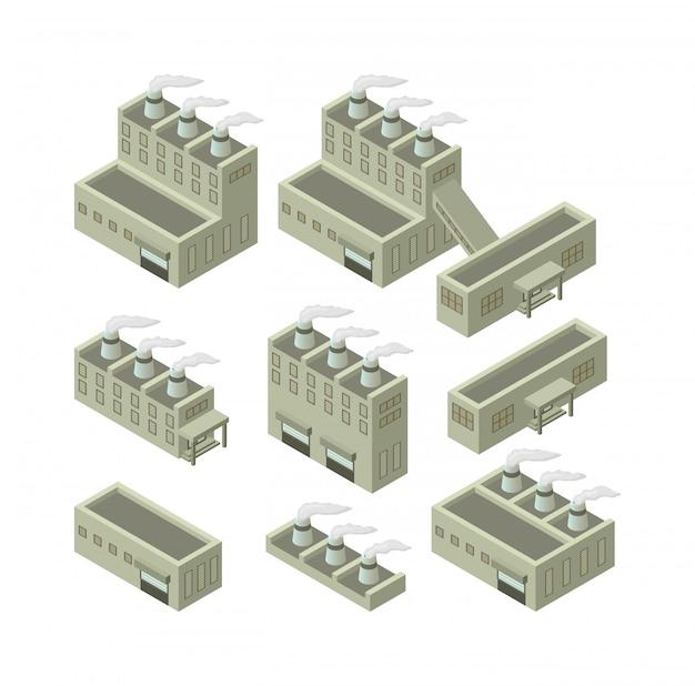 Изометрические здания иллюстрация