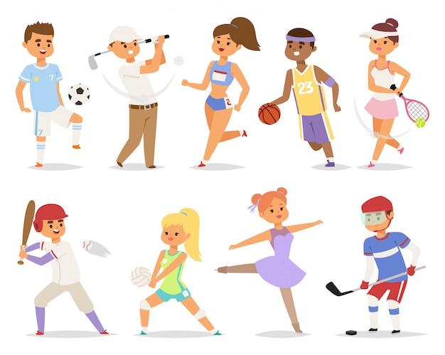 Различные спортивные люди.