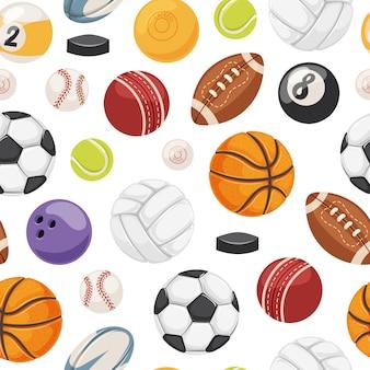 スポーツボールのシームレスなパターン。