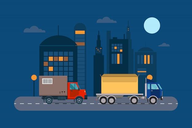 Доставка транспортной грузовой логистикой.