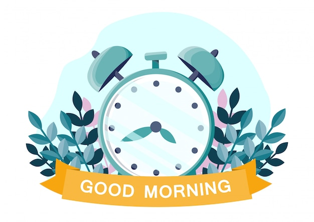 目覚まし時計のイラスト。