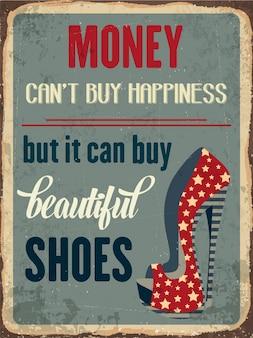 Ретро металлический знак о обуви