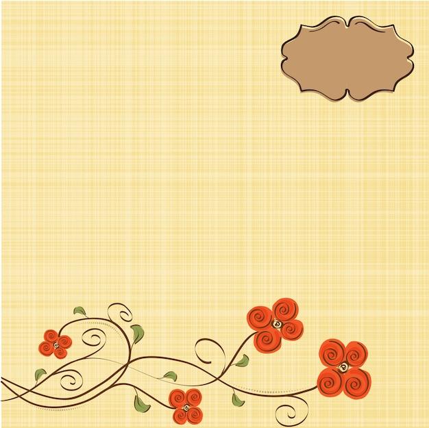 Романтические цветы фон